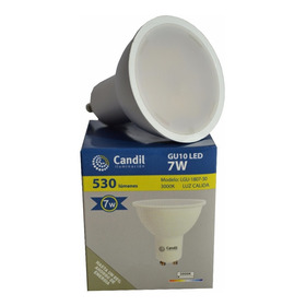 Lampara Led Gu10 7w 100º Calida Candil