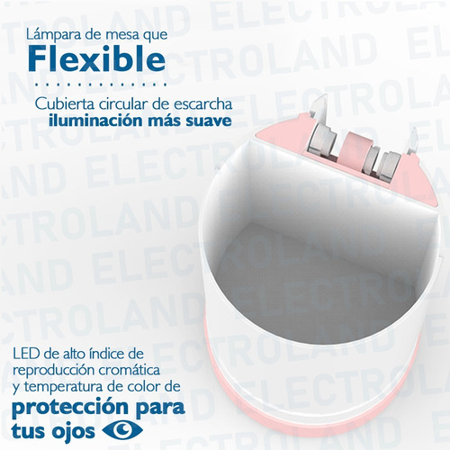 lampara led inalambrica mesa escritorio usb velador tactil
