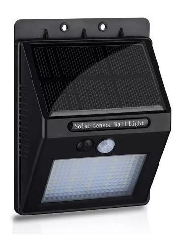 lampara led luz solar 20 led 4w sensor movimiento fotocelula