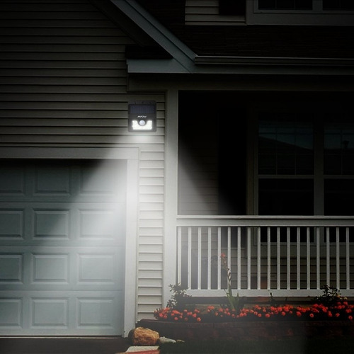 lampara led luz solar sensor movimiento 20 leds grandes