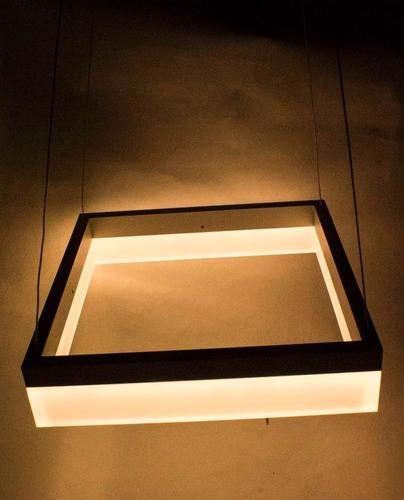 lampara led minimalista moderna cuadrada colgante ajustable