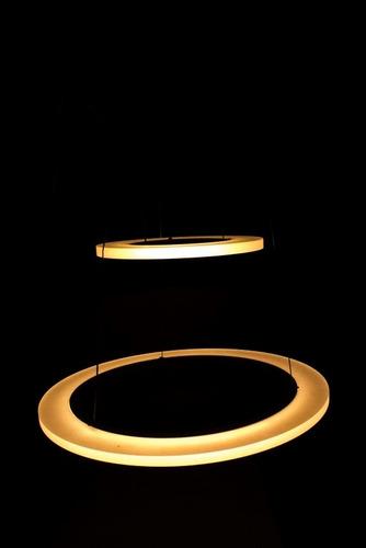 lampara led minimalista moderna doble aro colgante ajustable