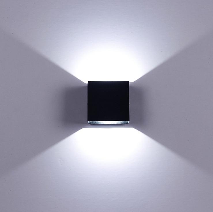 Lampara led moderna de pared o techo elegante negra en mercado libre - Lamparas de techo modernas led ...