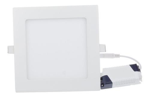 lampara led panel 12w cuadrada empotrar luz blanca