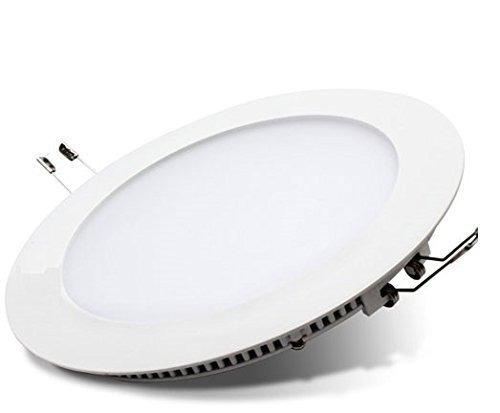 lampara led panel 12w spot ojo de buey ultraplana