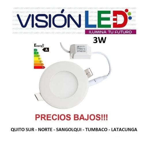 lampara led panel 3w luces gypsum - varios modelos deco