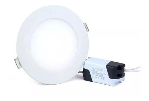 lampara led panel 6w redonda luz blanca techo empotrar 018
