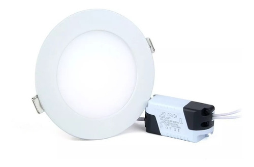 lampara led panel 6w redonda luz blanca techo empotrar 18