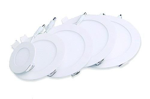 lampara led panel 6w spot ojo de buey empotrar ultraplanas