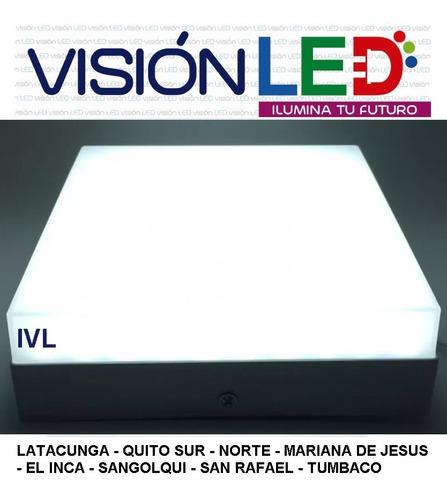 lampara led panel superficie montada sobrepuesto potente