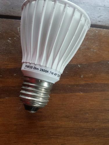 lámpara led par20 7w 2800k luz cálida dimerizable ledion