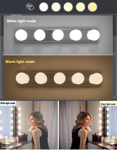 lampara led para maquillaje de 5 luces incl. cable