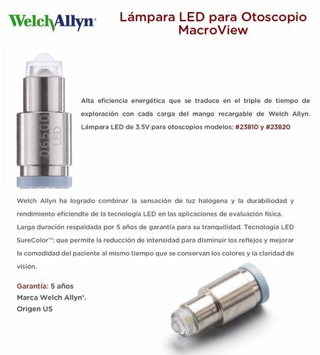 lampara led para otoscopio macroview welch allyn