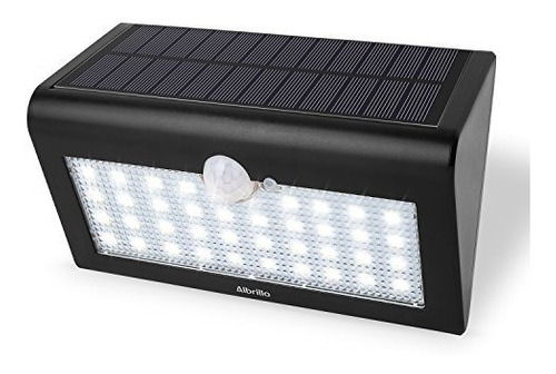 lampara led para pared con panel solar y sensor 38 led