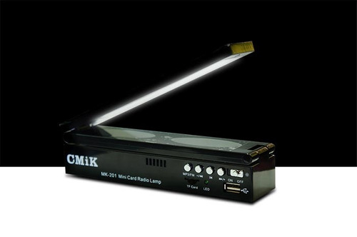 lampara led, parlante, radio fm, conexion targeta micro sd