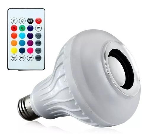 lampara led rgb 220v parlante bluetooth colores foco oferta!