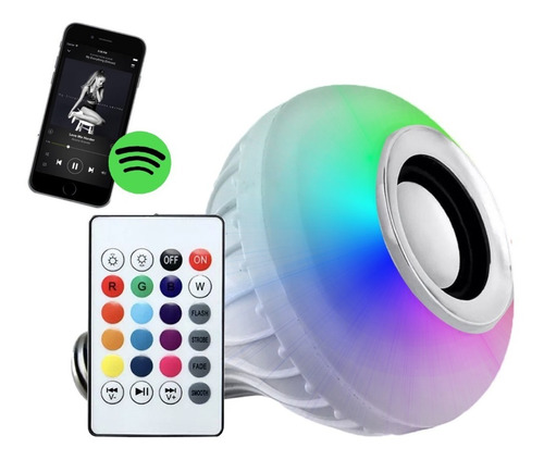 lampara led rgb 220v parlante bluetooth colores foco oferta!