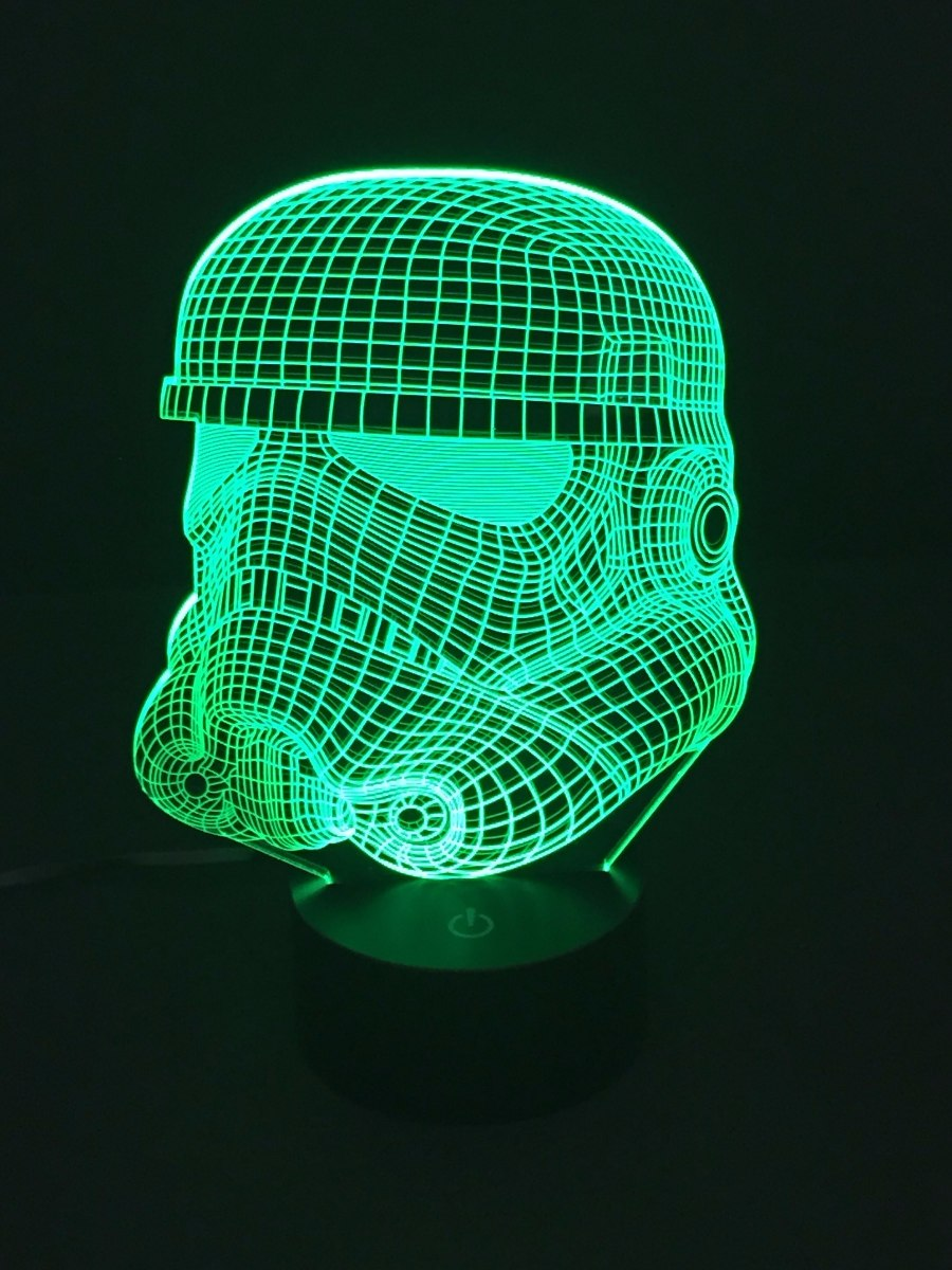 Lámpara Led Rgb 3d Acrílico Stormtrooper Star Wars Video - $ 599.00 ...
