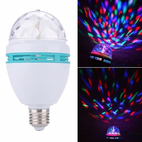lampara led rgb giratoria rayos multicolor fiestas opvip