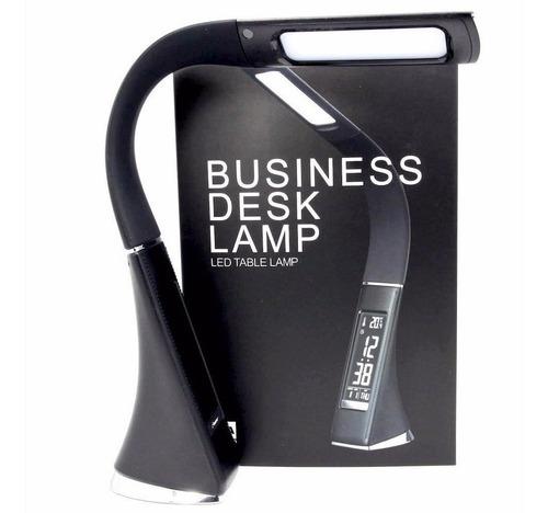lampara led simil cuero con reloj digital