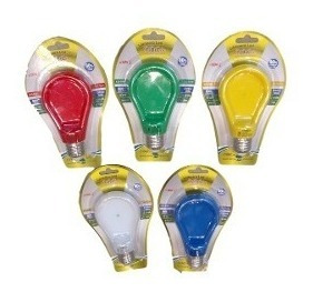 lampara led slim colores extra chata 9w e27 900 lumenes