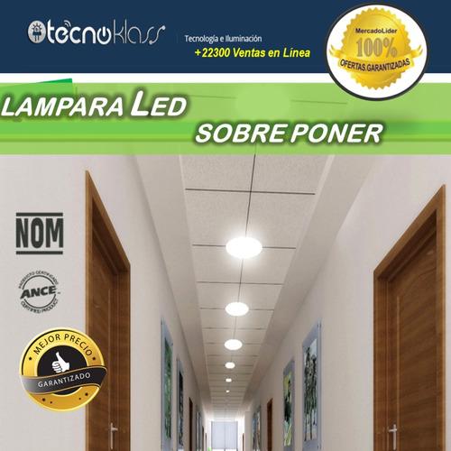 lampara led sobreponer 12w plafon foco panera casas oficinas