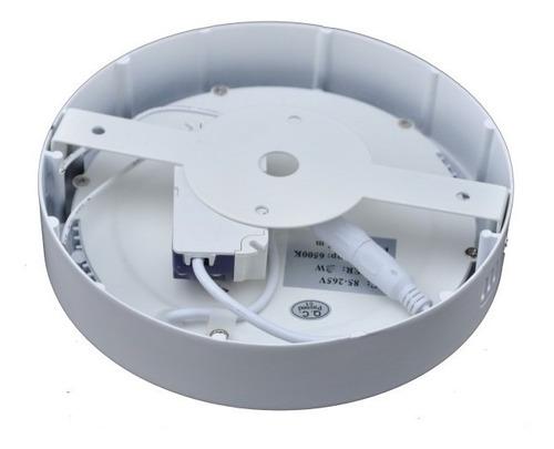 lampara led sobreponer 18w panel led luz blanca ojo de buey