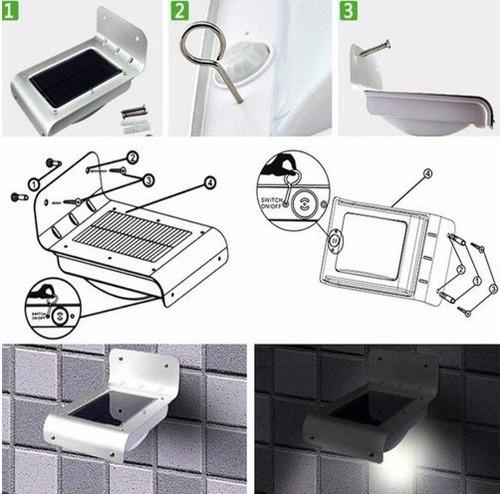 lampara led solar con sensor de movimiento y luz exteriores