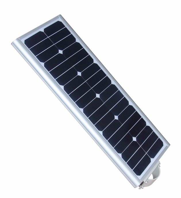 Lampara led solar integral 40 watts led 60w panel solar for Lampara solar led