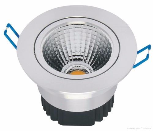 lámpara led  spot cob ojo de buey luz cálida 7w empotrar
