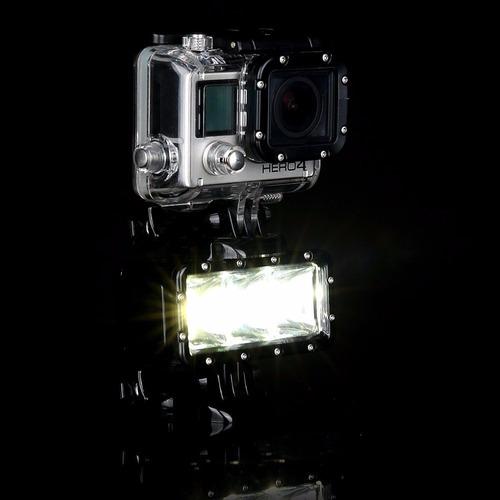 lampara led sumergible para gopro, sj5000 30m profundidad