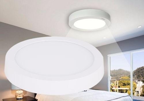 lampara led superficial 24w redonda ojo de buey luz blanca