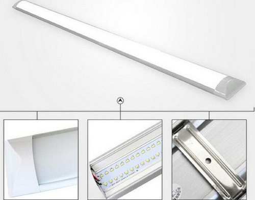 lampara led superficial antipolvo 40w 6500k 120cm hammer