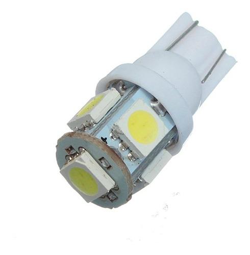 lampara led t10 w5w 5 led lampara luz posicion 6000k 12v