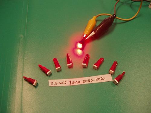 lampara led t5 1 led 5050 rojo