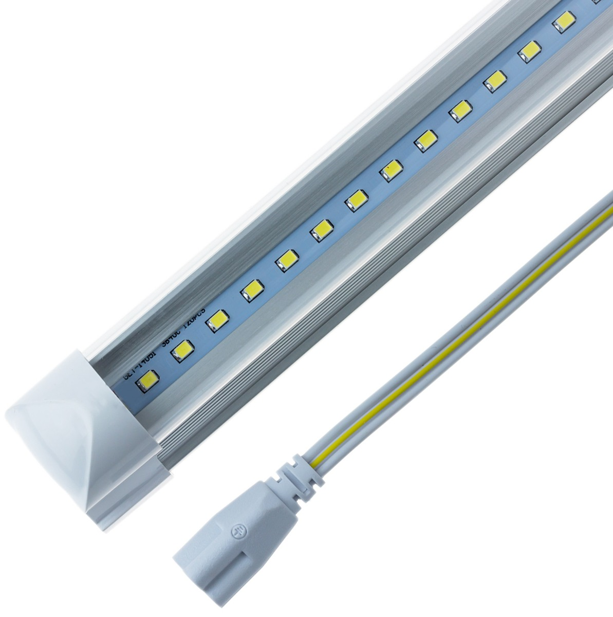 Lampara led t8 18w transparente luz blanca con base b42618 for Lamparas led para jardin