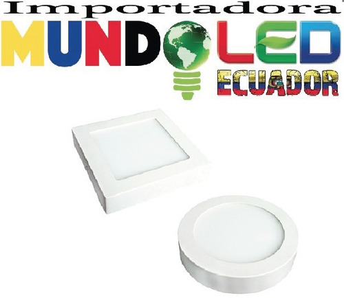 lámpara led tipo panel 18w-12w-6w sobrepuesta-cemento loza!