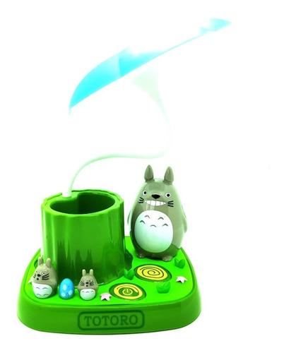 lampara led totoro escritorio porta lapices cute kawaii