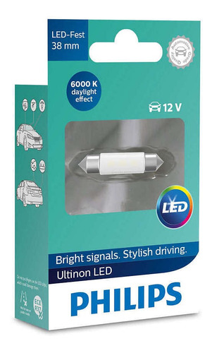lampara led tubular philips 38mm 6000k blanco philips 11854