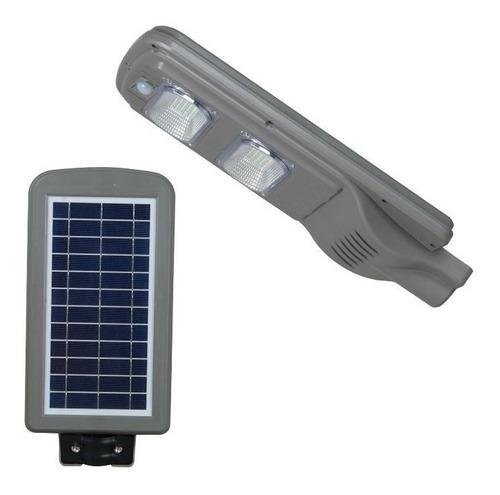 lampara led urbana, panel solar, sensor de movimiento 40 w