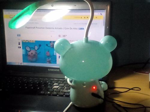 lampara led usb recargable 2 modos modelos kawaii