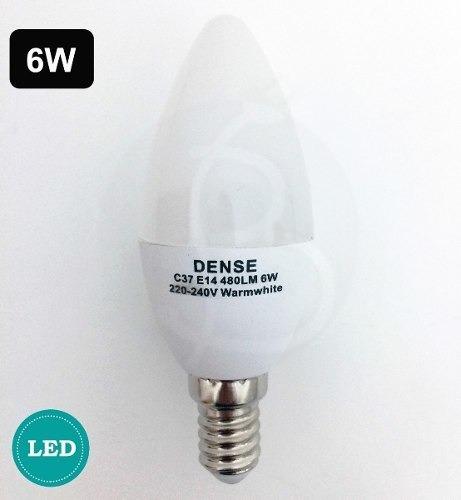 lampara led vela 6w e14 cálida / fría 1 año de garantía