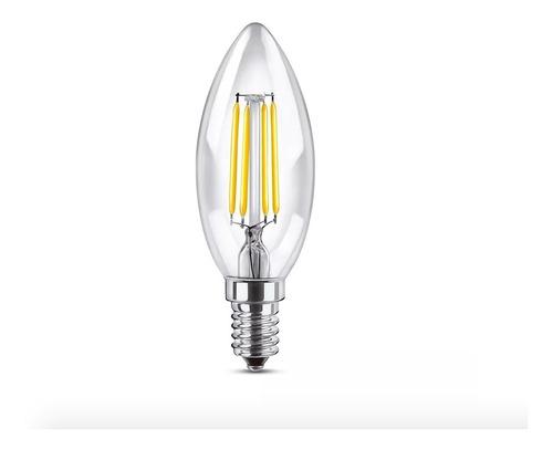 lampara led vela e14 filamento calido 4w dimerizable en stok
