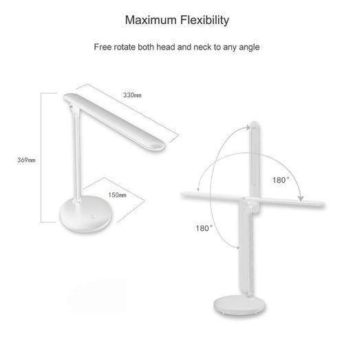 lampara led - velador escritorio dimer 3 tonos de luz - usb