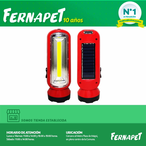 lampara linterna emergencia led solar 12837/ fenapet
