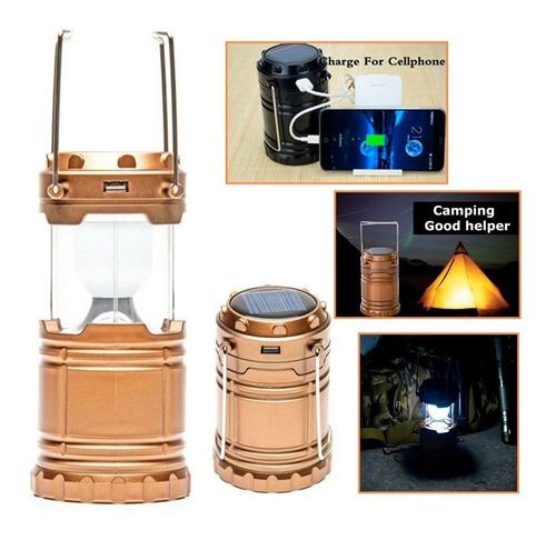 lampara linterna grande 8 led solar usb corriente vtax mayor