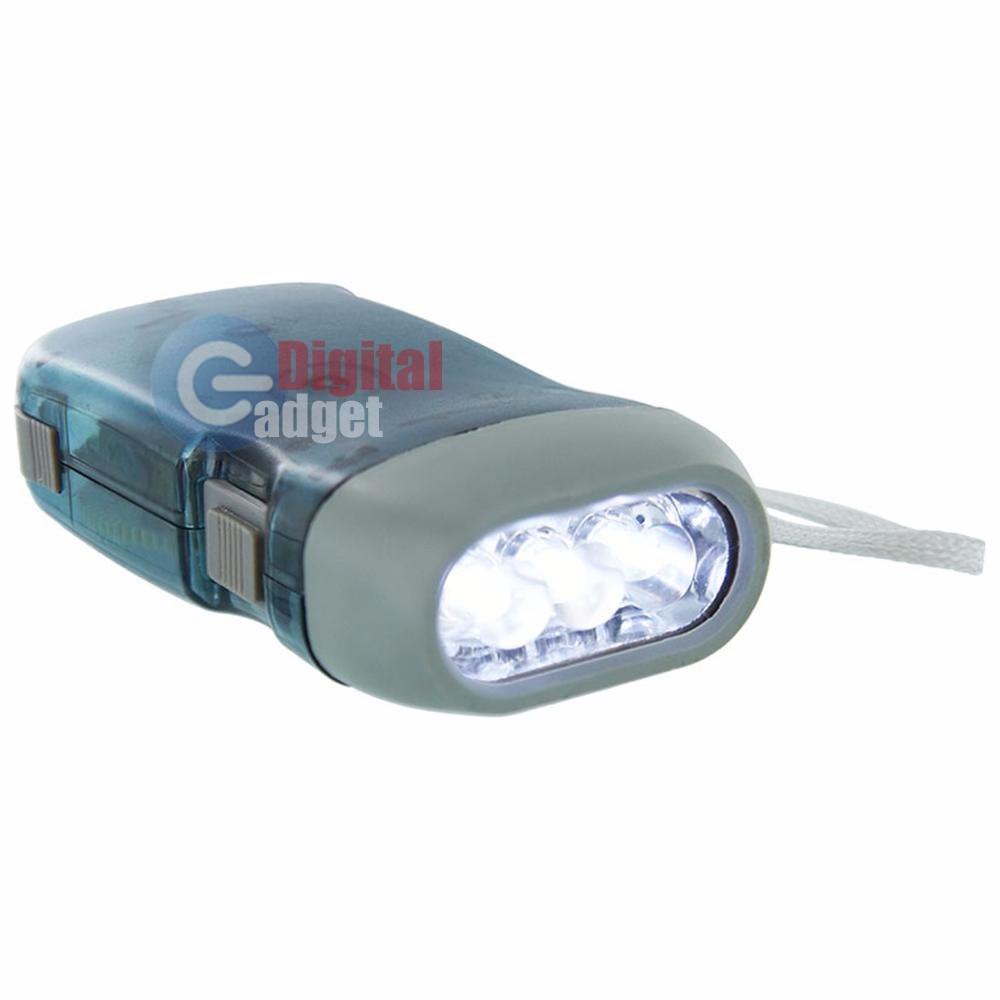 Lampara linterna led recargable portatil mano xenon dinamo - Linterna led recargable ...