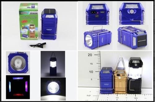lampara linterna led solar recargable