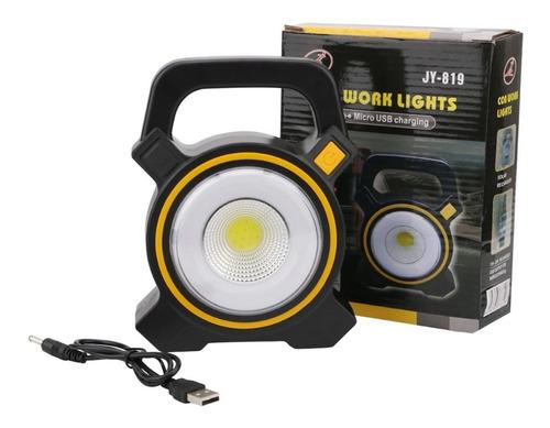 lampara linterna led solar recargable camping outdoor