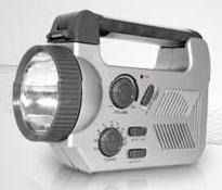 lampara linterna multi funcional con dynamo y radio am fm  l